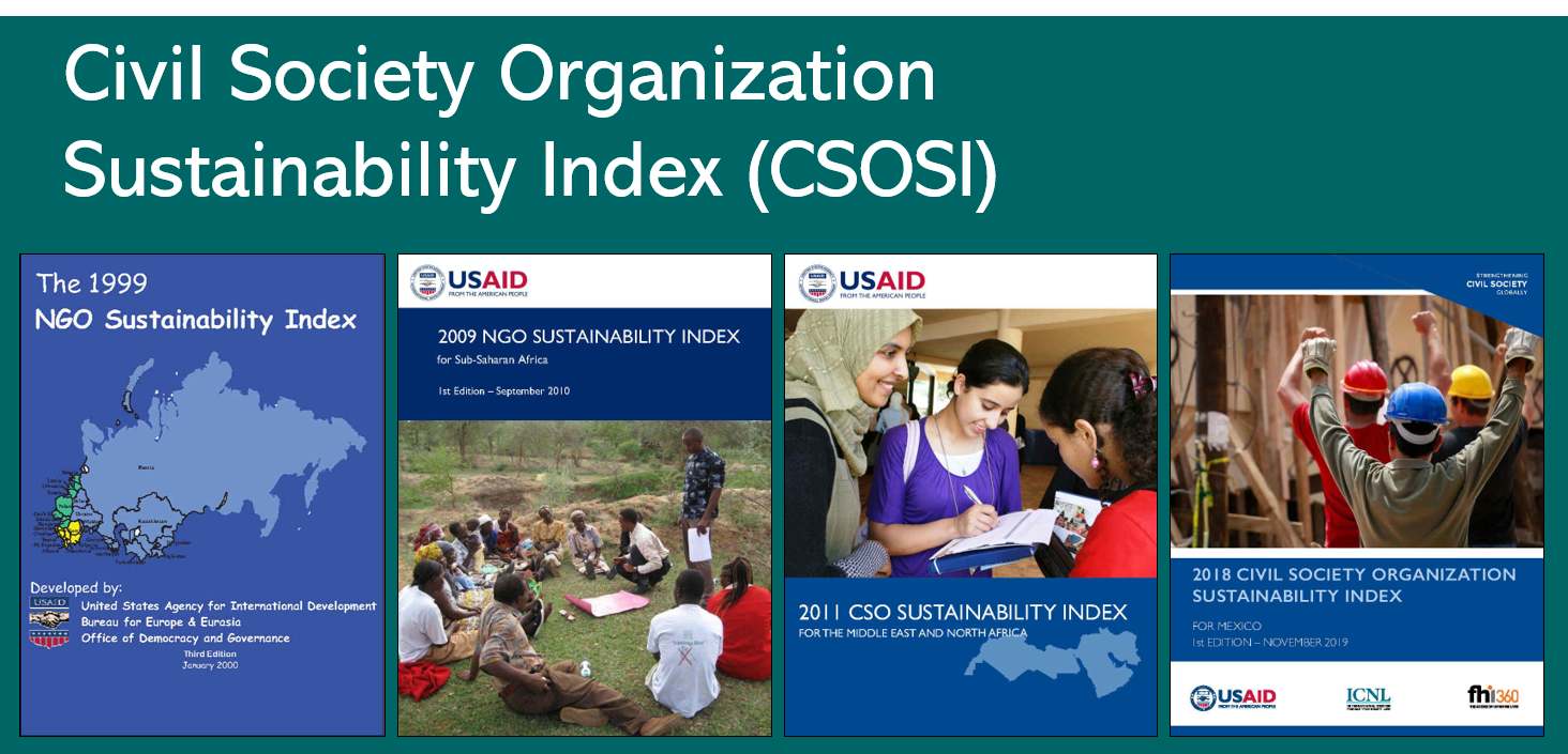 Cover pages of CSOSI reports from 1999, 2009, 2011, and 2018 (L-R)