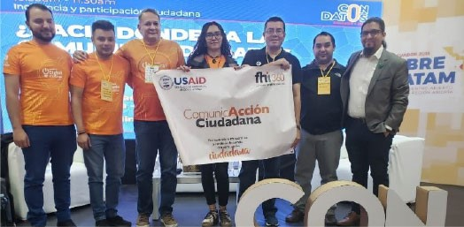 Winners of Honduras Digital Challenge at Abrelatam (August 2019, FHI 360)